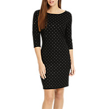 Buy Phase Eight Helene Heat Fix Shift Dress, Black Online at johnlewis.com
