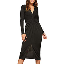 Buy Miss Selfridge Long Sleeve Twisted Pencil Dress, Black Online at johnlewis.com