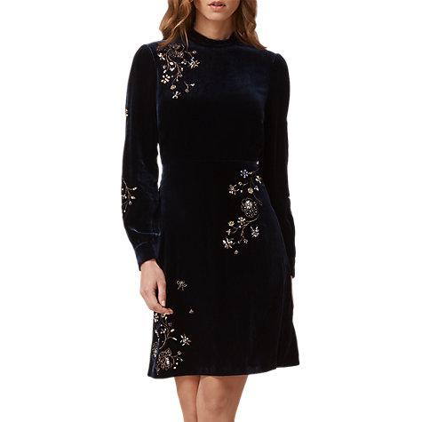 Lk bennett black velvet dress