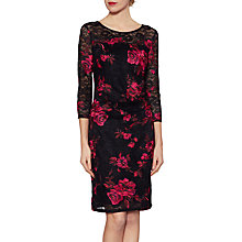 Buy Gina Bacconi Amanda Lace Floral Dress, Black/Pink Online at johnlewis.com