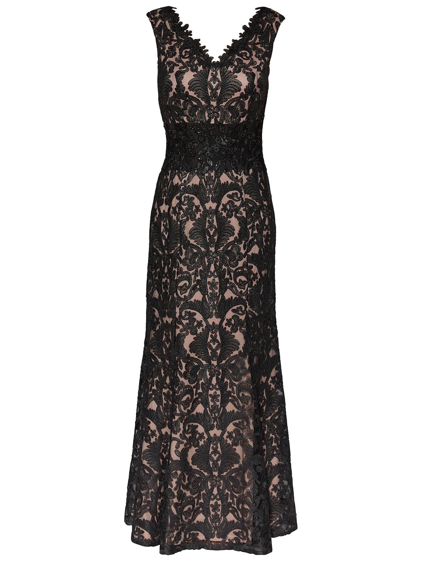 BuyGina Bacconi Imogen Embroidered Maxi Dress, Black, 8 Online at johnlewis.com