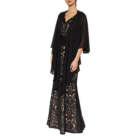 Buy Gina Bacconi Imogen Embroidered Maxi Dress, Black Online at johnlewis.com