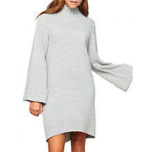 Buy Miss Selfridge Wide Sleeve Funnel Neck Dress, Grey Online at johnlewis.com