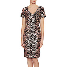 Buy Gina Bacconi Poppy Velvet Jacquard Dress, Dusty Pink Online at johnlewis.com
