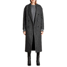 Buy AllSaints Rhea Wool Blend Double Breasted Coat, Charcoal Grey Online at johnlewis.com