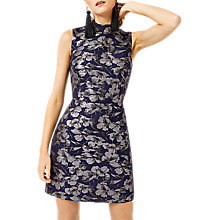 Buy Warehouse Floral Jacquard Shift Dress, Multi Online at johnlewis.com