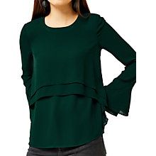 Buy Warehouse Double Layer Blouse Online at johnlewis.com