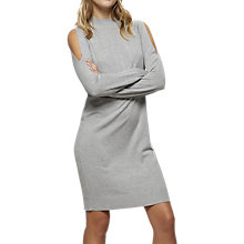 Buy Miss Selfridge Cross Back Cold Shoulder Dress, Grey Online at johnlewis.com