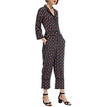 Buy Whistles Molly Tile Print Jumpsuit, Multi Online at johnlewis.com