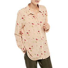 Buy Gerard Darel Chemise Floral Blouse, Nude/Multi Online at johnlewis.com