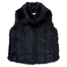Buy Jigsaw Girls' Fluffy Faux Fur Gilet Online at johnlewis.com