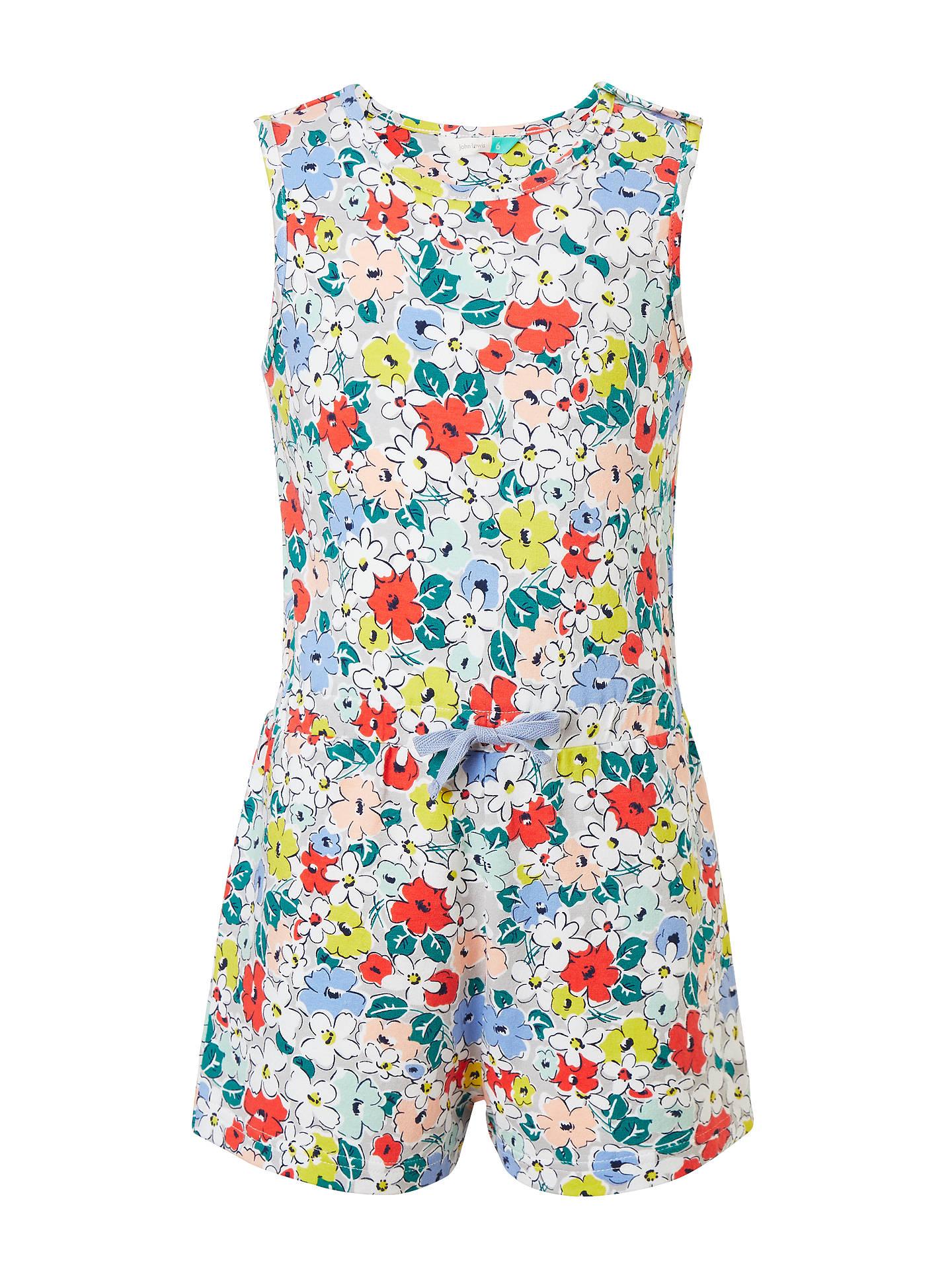 f9ac63cebf Buy John Lewis   Partners Girls  Floral Print Playsuit