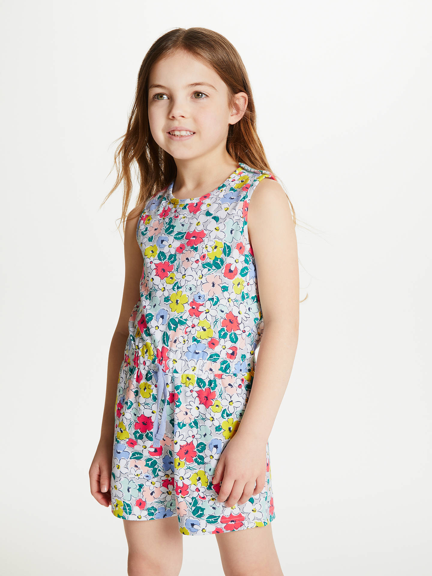 35a82aabe3 ... Buy John Lewis   Partners Girls  Floral Print Playsuit