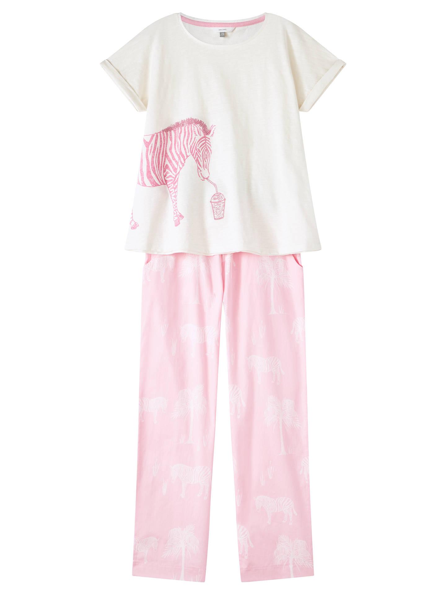 BuyJohn Lewis   Partners Girls  Zebra Print Pyjamas 889787c80