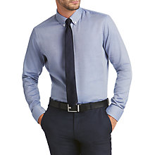 Buy HUGO by Hugo Boss Verdu Diamond Weave Regular Fit Shirt, Bright Blue Online at johnlewis.com
