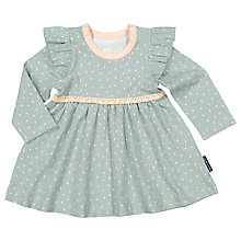 Buy Polarn O. Pyret Baby Frill Dress, Green Online at johnlewis.com