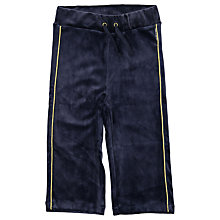 Buy Polarn O. Pyret Baby Velour Trousers, Navy Online at johnlewis.com