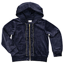 Buy Polarn O. Pyret Childrens' Velour Hoodie, Blue Online at johnlewis.com