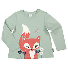 Buy Polarn O. Pyret Children's Fox Top, Green Online at johnlewis.com
