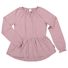 Buy Polarn O. Pyret Children's Twinkle Star Top, Purple Online at johnlewis.com