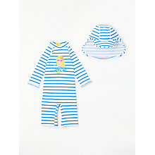 Buy John Lewis Baby Mermaid SunPro Swimsuit and Hat, Blue Online at johnlewis.com