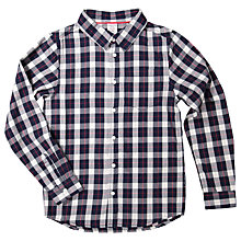 Buy Polarn O. Pyret Children's Check Shirt, Blue Online at johnlewis.com