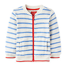 Buy Baby Joules Baby Mitch Bomber Jumper, Blue/White Online at johnlewis.com