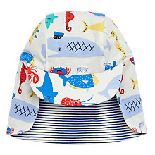 Buy Baby Joule Sunny Reversible Sea Time Legionnaires Hat, White/Blue Online at johnlewis.com