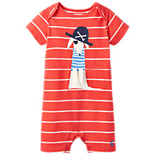 Buy Baby Joule Patch Dog Applique Stripe Romper, Red/White Online at johnlewis.com