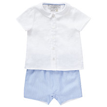 Buy John Lewis Baby Heirloom Collection Linen Shirt and Shorts Set, Blue Online at johnlewis.com