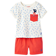 Buy Baby Joule Barnacle Top & Shorts Set, Red/White Online at johnlewis.com