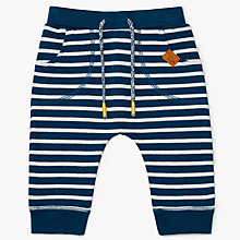 Buy John Lewis Baby Striped Cotton Joggers Online at johnlewis.com