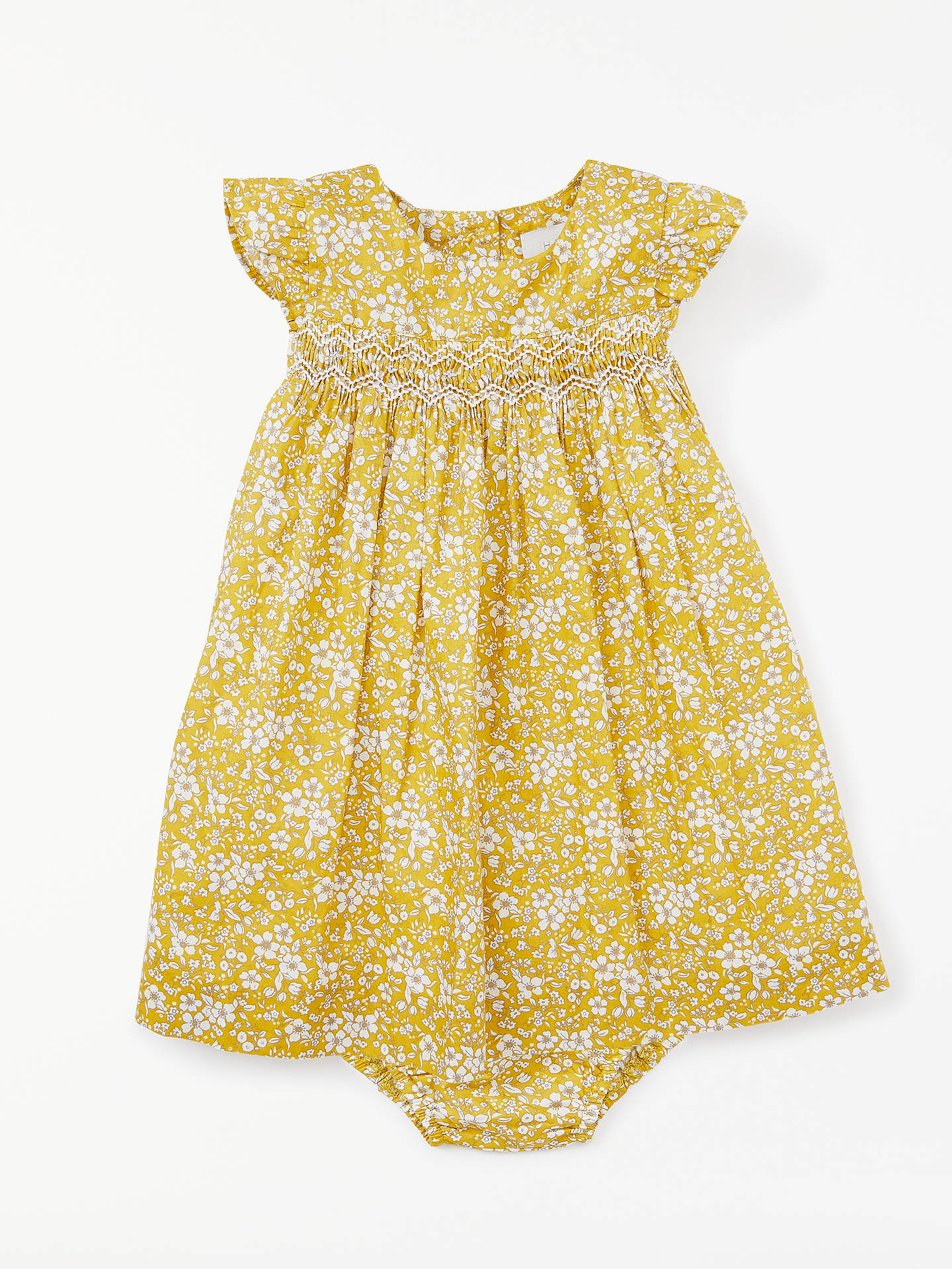 90727ca9a John Lewis   Partners Heirloom Collection Baby Floral Ruby Dress at ...