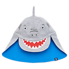 Buy Baby Joule Sunfun Shark Legionnaires Hat, Grey/Blue Online at johnlewis.com