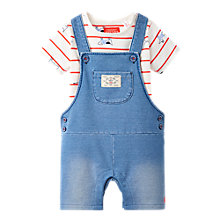 Buy Baby Joule Baby Duncan Denim Dungaree and Top Set, Blue Online at johnlewis.com