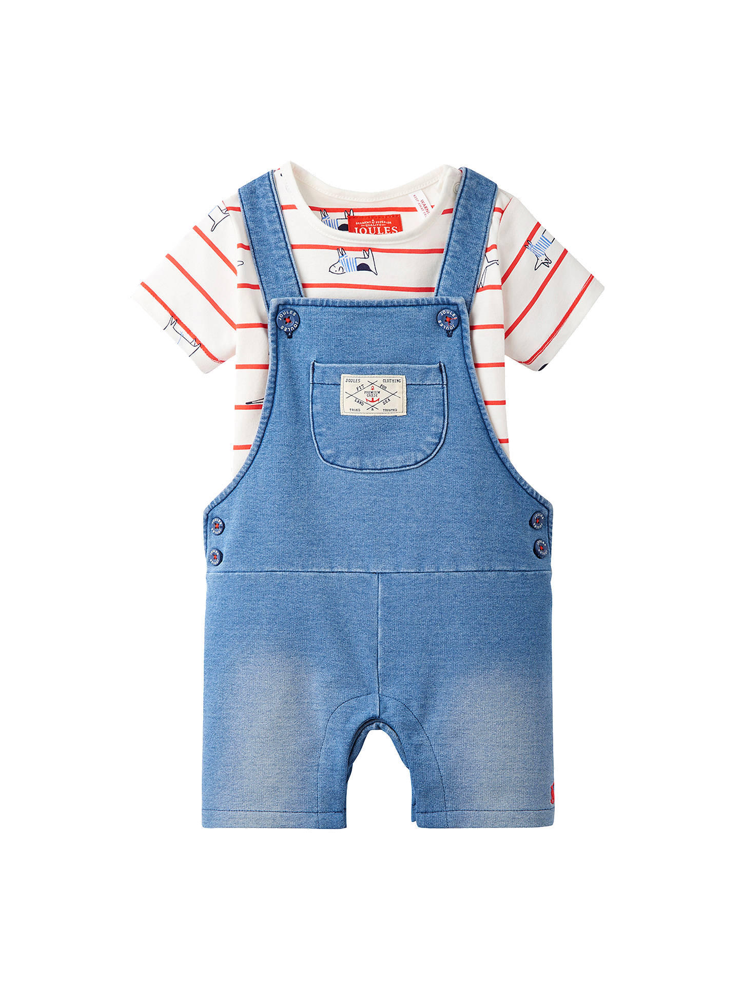 aeb105a2fb48 Baby Joule Baby Duncan Denim Dungaree and Top Set