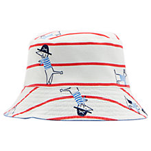 Buy Baby Joule Sea Dog Reversible Sun Hat, White/Red Online at johnlewis.com