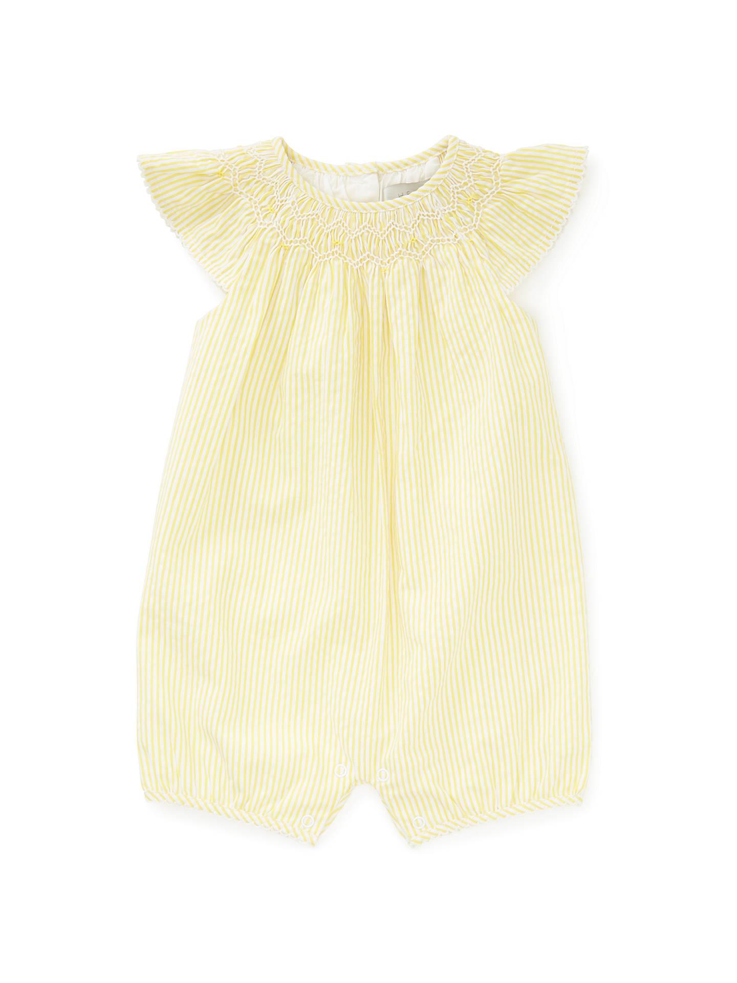 260b5bef11c John Lewis   Partners Heirloom Collection Baby Kim Stripe Romper ...