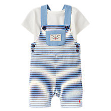 Buy Baby Joule Baby Duncan Jersey Dungaree and Top Set, Blue/White Online at johnlewis.com