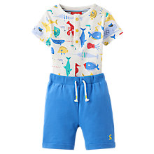 Buy Baby Joule Joey Bodysuit and Shorts, Blue Online at johnlewis.com