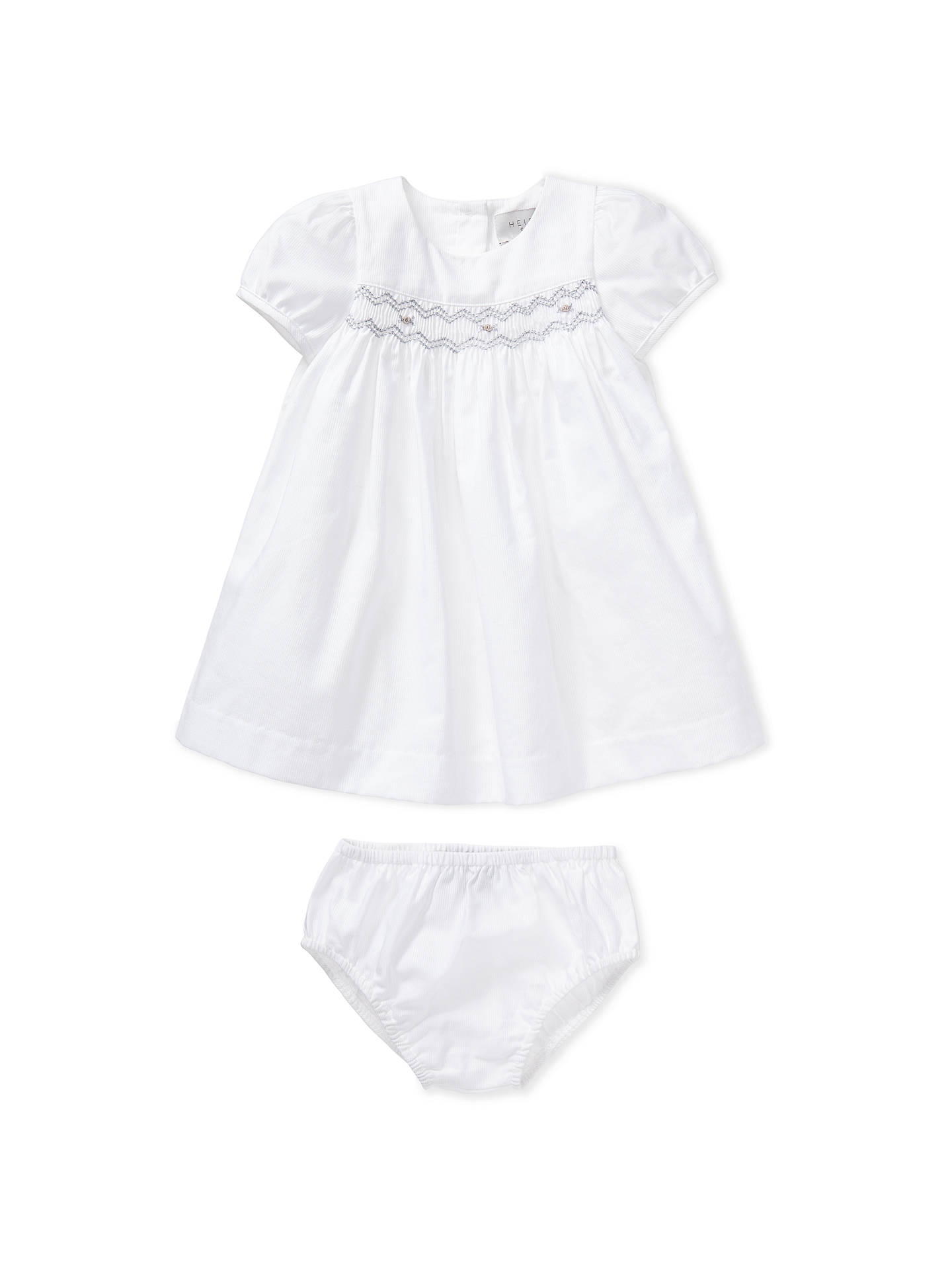 eac96aa1944 Buy John Lewis   Partners Heirloom Collection Woven Smock Dress and  Knickers Set