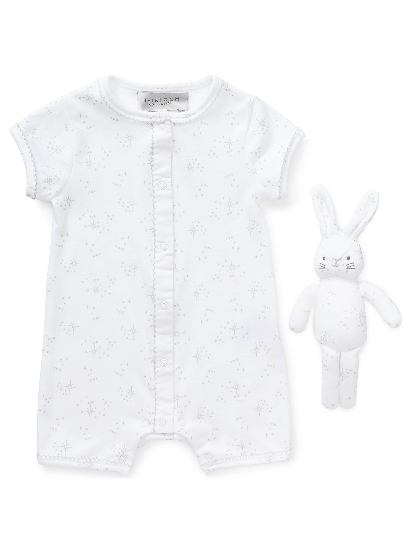dce86e93c13 John Lewis   Partners Heirloom Collection Star Print Romper with Toy ...