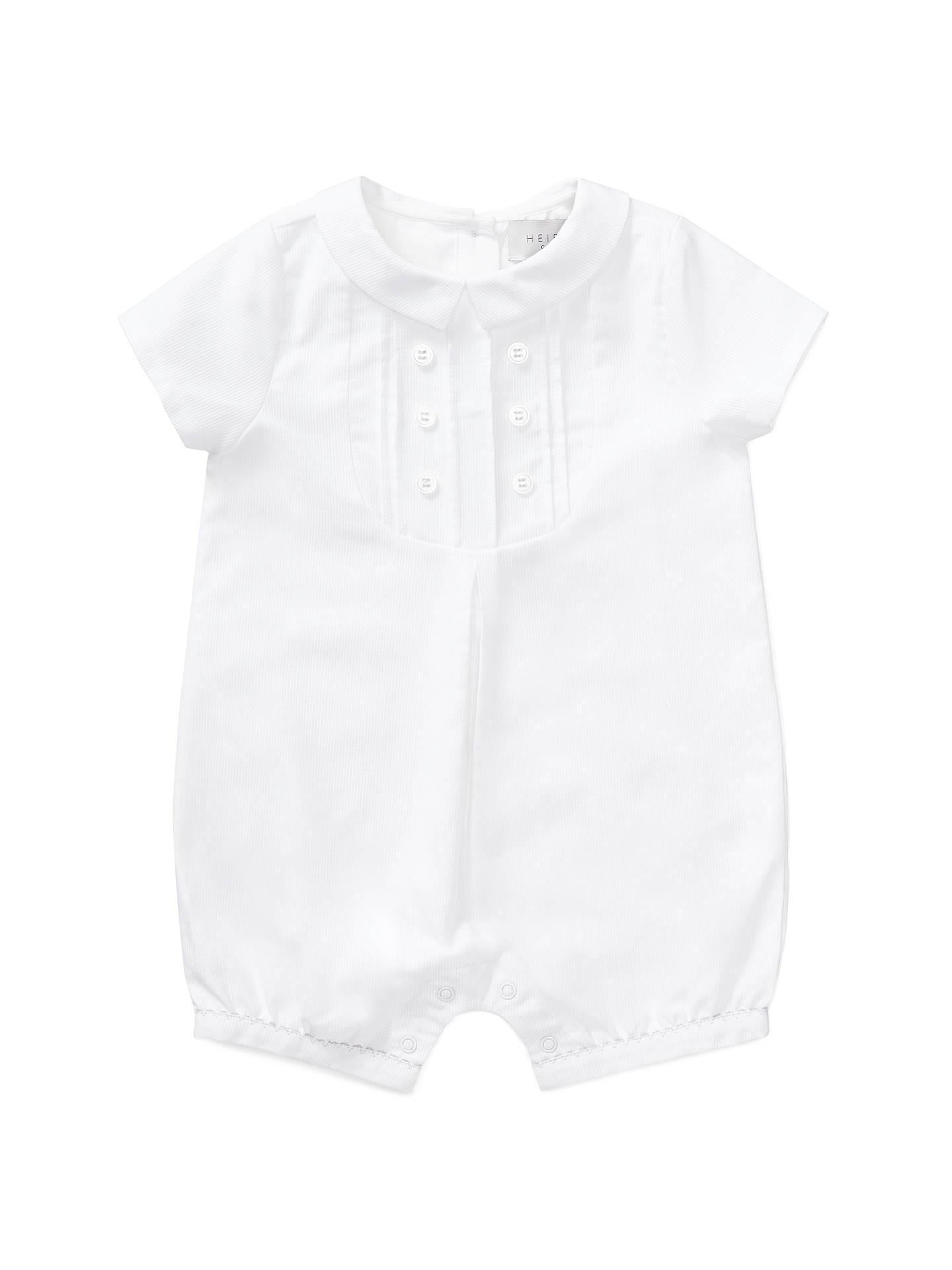 ea4cfd2cda19 John Lewis   Partners Heirloom Collection Baby Textured Romper ...