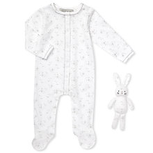 Buy John Lewis Baby Star Sleepsuit and Bunny Set, White Online at johnlewis.com