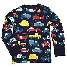 Buy Polarn O. Pyret Baby Car Print Top, Blue Online at johnlewis.com