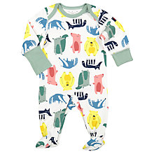 Buy Polarn O. Pyret Baby Forest Sleepsuit, Green Online at johnlewis.com