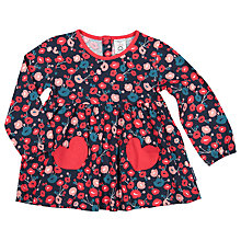 Buy Polarn O. Pyret Baby Floral Tunic Top, Blue Online at johnlewis.com