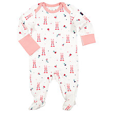 Buy Polarn O. Pyret Baby Rabbit Sleepsuit, Pink Online at johnlewis.com