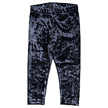 Buy Polarn O. Pyret Baby Velour Leggings, Navy Online at johnlewis.com