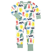 Buy Polarn O. Pyret Children's Woodland Friends Onesie Pyjamas, Green Online at johnlewis.com